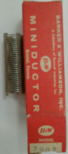 4 5 Uh B w Miniductor 3007 Vintage Air Core Inductor 2 5 8 Dia 16 Tpi 20 Awg