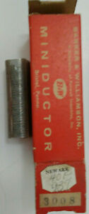 16 Uh B w Miniductor 3008 Vintage Air Core Inductor 2 5 8 Dia 32 Tpi 24 Awg