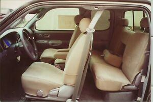 Durafit Exact Fit Seat Covers 2000 2004 Toyota Tundra Access Cab 2 Rows Tan