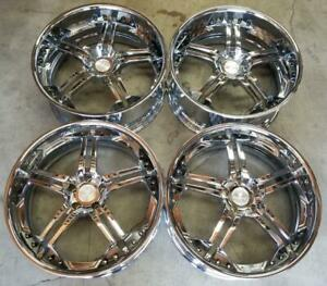 Russtec Wheels Rims 22 Inch Staggered 5x120 Chrome