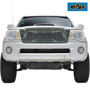 Eag Led Grille Replacement Full Front Grill Fit For 2005 2011 Toyota Tacoma