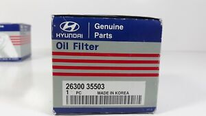 Oem Hyundai Genuine Parts Oil Filter 26300 35503 With Washer
