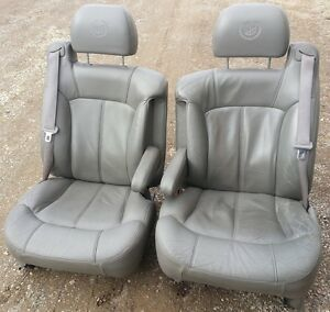 00 01 02 Cadillac Escalade Esv Front Gray Leather Perforated