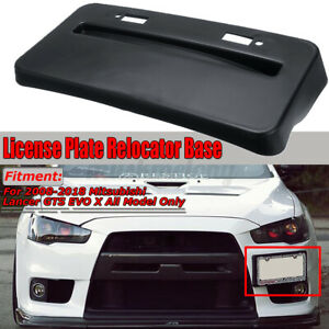 Front License Plate Relocator Frame For Mitsubishi Lancer Gts Evo X 08 18 Black