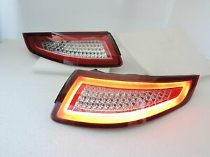 Led Tail Rear Light Red clear For Porsche 2005 06 07 08 Carrera 911 997 Gt2 Gt3