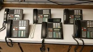 Meridian nortel M7310 lot Of 6 Desktop Phones 1 With Phone System Busy Lamp