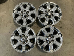 18 Ford F150 Chrome Clad Factory Oem Wheels Set 2013 2014