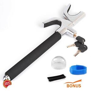 Steering Wheel Lock Anti Theft Security The Club Universal Clamp Heavy Duty 2in1