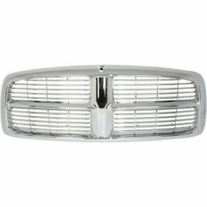 New Chrome And Silver Grille For 2002 2005 Dodge Ram 1500 2500 3500 Ships Today