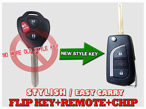 New Style Flip Key 3 Button Remote Mozb41tg With G For 2011 2012 2013 Scion Tc