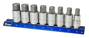 Titan Tools 16131 7 Piece Metric Large Hex Bit Socket Set