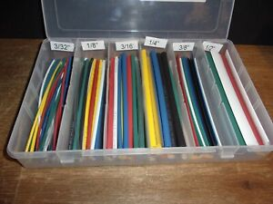qty 133pcs Power First 6 Thin Wall Heat Shrink Tubing Kit 3 32 1 2 2 1
