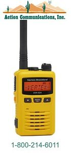 New Vertex standard Evx s24 Uhf 403 470 Mhz 3 Watt 256 Ch Yellow 2 way Radio