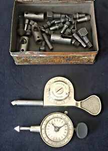 Antique Lot Ls Starrett And Standard Gage Co Speed Indicator Rpm Dial Gauges