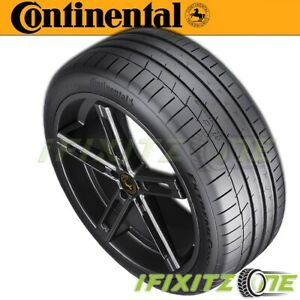 1 Continental Extremecontact Sport Summer High Performance 285 40zr17 100w Tires