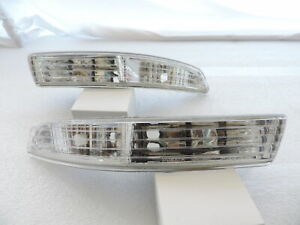 For 94 97 Acura Integra Clear Bumper Lights Parking Turn Signal Lamps Pair