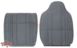 94 97 Dodge Ram Work Truck Driver Side Bottom Lean Back Cloth Seat Covers Gray