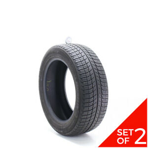 Set Of 2 Used 215 55r17 Michelin X Ice Xi3 98h 6 6 5 32