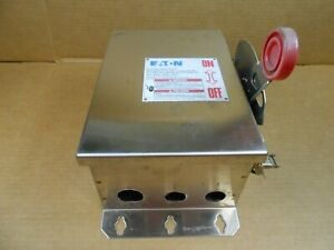 Eaton Dh361uwk Stainless Steel 30 Amp Safety Switch Non fused 600v 3p 2 Avail