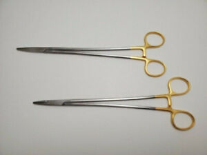 Lot Of 2 Pilling 152786 Crile Wood Needle Holder 9 Surgical
