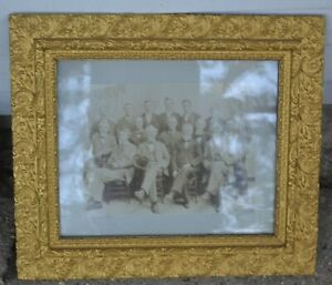 Antique 11x 23 Gold Gilded Picture Frame Wood Ornate Fine Art W Picture