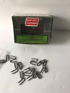Grip Rite Fasteners Hot Galv Poultry Net Staples 3 4 Lot Of 24 Staples