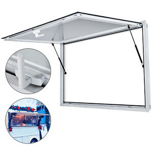 Concession Stand Trailer Serving Window 40 x64 Window Awning Truck Serving Door