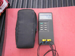 Fluke 52 K j Digital Dual Input Thermometer With Probes Case Free Shipping