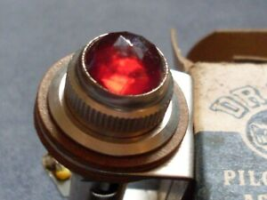 Vintage Drake Pilot Light Assembly With Box Red Faceted Dash Panel Light Rat Rod
