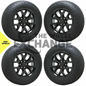 20 Gmc Sierra Silverado 1500 Truck Black Wheels Rims Tires Factory Oem Set 5698