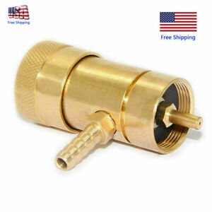 Solid Brass Oxygen Regulator Tank Valve For Disposable Tanks With Barb Fitting