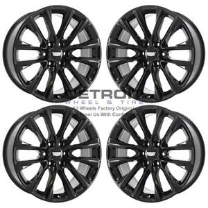 22 Cadillac Escalade Gloss Black Exchange Wheels Rims Factory Oem 4804 2007