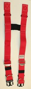 Firefighter Suspenders Red Padded H Style Inno Tex Rwp s Turnout Gear Nos