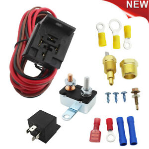 Electric Radiator Engine Fan Thermostat Temperature Switch Relay Kit 3 8 327 350
