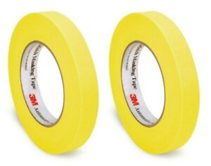 3m 06652 Two Rolls Yellow Automotive Refinish Masking Tape 3 4 X 60yds