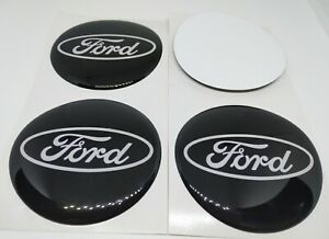 4pcs Car Wheel Center Sticker Rims Decal Hub Caps Cover Emblem Logo For Ford