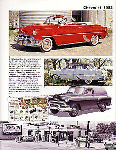 1953 Chevy Convertible Sedan Delivery Corvette Article Must See