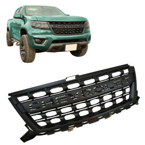 Gm 2015 2020 Chevy Colorado Matte Black Front Grille Black W Chevrolet Script