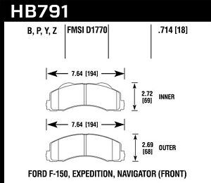 Hawk Performance Hb791b 714 Hps 5 0 Disc Brake Pad
