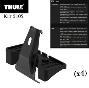 Thule Roof Rack System Fit Kit 5105 For Select 2014 19 Silverado Sierra Models