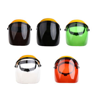 Anti Shock Welding Safety Face Shields Head Mounted Polycarbonate Helmet With