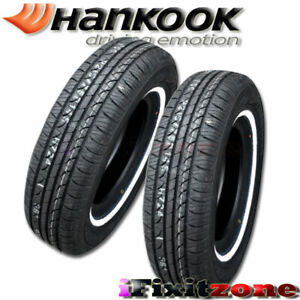 2 Hankook Optimo H724 P185 75r14 89s White Wall Wsw All Season Touring Tires