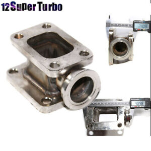 T3 To T4 Turbo Manifold Flange Adapter Conversion W 38mm Vband Wastegate Flange