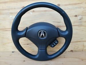 02 03 04 05 06 Acura Rsx Steering Wheel Cruise Control With Airbag Oem Black