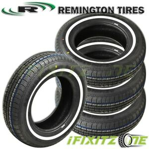 4 X New Remington Lx Touring W W Whitewall 175 75r14 86s All Season Tires