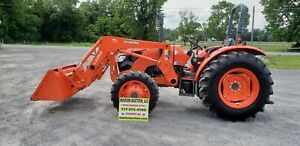 2018 Kubota M7060d Loader Tractor Only 102 Hours Remaining Warranty
