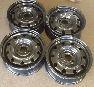 16 Dodge Avenger Factory Oem Steel Wheels Rims 16x6 1 2 2008 2010