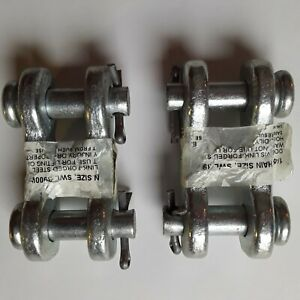Double Clevis Link Set Of Two 1 4 5 16 Hillman 322040