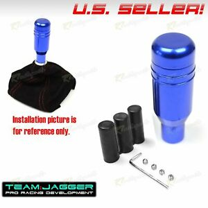 Fit Nissan M12 M8 M10 Automatic Spring Operated Gear Shift Knob Push Button Blue