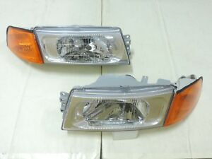 1998 2001 Mitsubishi Lancer Evo 5 6 Chrome Headlights Amber Corner Light